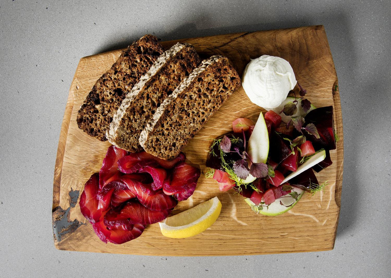 Food Dish at Hicce Restaurant Coals Drop Yard Kings Cross London